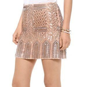 Club Monaco Hattie Beaded Sequin Mini Skirt